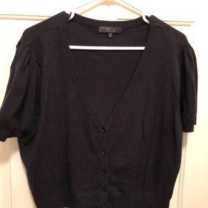 Fit Apparel 4X Black Short Sleeve Cropped Cardigan